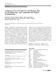 Comparison of Low Fat and Low Carbohydrate Diets on Circulating ...