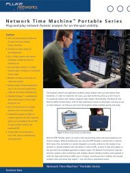 Network Time Machine™ Portable Series - Fluke Networks