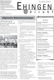 Musikkapelle Kirchen eV - Stadt Ehingen