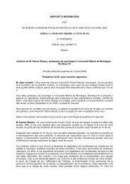 RAPPORT D'INFORMATION FAIT AU NOM DE LA MISSION D ...