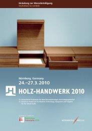 Nürnberg, Germany 24.–27.3.2010 - Holz-Handwerk