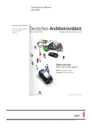 Current Press Release July 2009 - HWP Planungsgesellschaft mbh