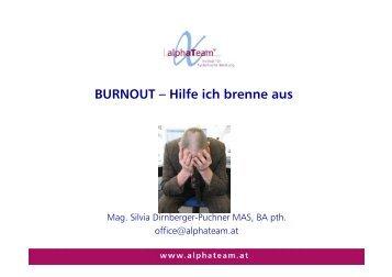 BURNOUT – Hilfe ich brenne aus - Marketing Club Salzburg