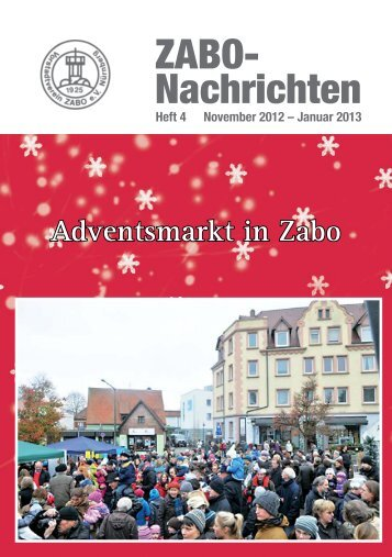 Heft 2012-4 - Vorstadtvereins Zabo