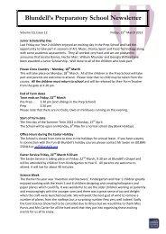 Newsletter 152 - Blundell's School