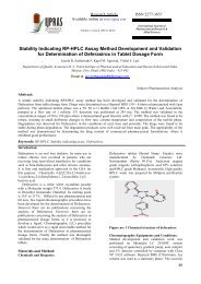 Stability Indicating RP-HPLC Assay Method Development and ...