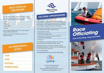 Race Officiating - Yachting Victoria