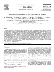 Speech to sign language translation system for ... - ResearchGate