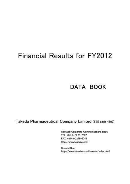 Data Book Download Entire File - Takeda