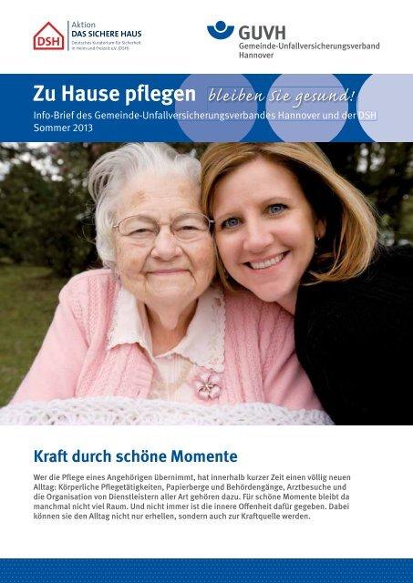 Zu Hause pflegen - bleiben Sie gesund Sommer 2013 - Gemeinde ...