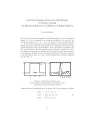 Low Pass Filtering of Gravity Field Models by Gently ... - ICGEM