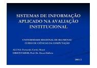 sistemas de informação aplicado na avaliação ... - Projeto Pesquisa