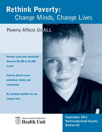 Poverty Affects Us All - Northumberland County - Haliburton ...