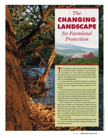 The Changing Landscape for Farmland Protection [PDF] - American ...