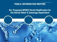 PUBLIC INFORMATION MEETING Re: Proposed NPDES Permit ...