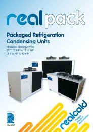 RealpackPackaged Refrigeration Condensing Units ... - Realcold