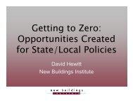 David Hewitt - National Association of State Energy Officials