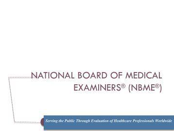 nbme - AAMC's member profile