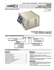 Lennox LF24-75A Engineering Data - FREE SHIPPING - Heating ...