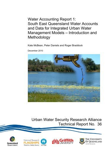Water accounting report 1 - Urban Water Security Research Alliance