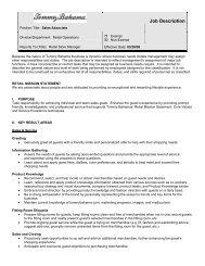 Job Description - Santana Row