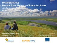 DANUBEPARKS Project Results (G.Frank)