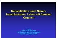 Rehabilitation nach Nieren- transplantation: Leben mit fremden ...