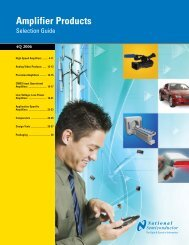 National Semiconductor Amplifier Product Selection Guide (PDF)