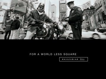 FOR A WORLD LESS SQUARE - Hasselblad