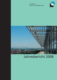 Jahresbericht 2008 - Presse - DPMA