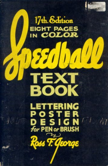 Speedball Lettering Text Book 17th Edition 1957