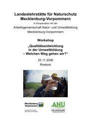 Dokumentation des Workshops - und Umweltbildung