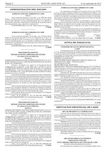 Página 2 - Diputación de Cádiz
