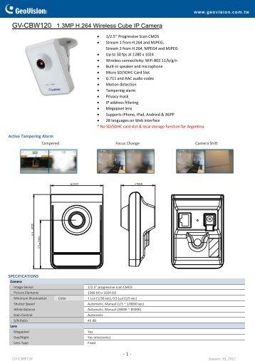GV-CBW120 - Remote-security.com