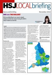 NHS 111 briefing - Health Service Journal