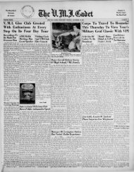 The Cadet. VMI Newspaper. November 22, 1948 - New Page 1 ...