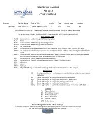 estherville campus fall 2012 course listing - Iowa Lakes Community ...