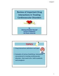Review of Important Drug Interactions in Treating Cardiovascular ...