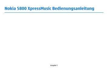 Nokia 5800 XpressMusic Bedienungsanleitung - Fonmarkt.de