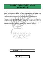 ABRIDGED version - New Zealand Cricket