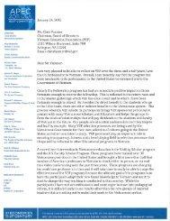 Letter from U.S. Amb Michael Michalak, retired - Vietnam Education ...