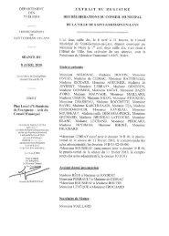 Plan Local d'Urbanisme de Fourqueux — Avis du Conseil Municipal