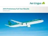 2010 Preliminary Results Presentation - Aer Lingus