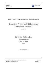 DICOM Conformance Statement - Carl Zeiss, Inc.