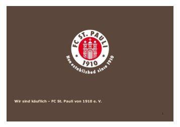 Wir sind käuflich – FC St. Pauli von 1910 e. V. - Hamburg Locations
