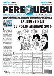 13 JUIN : FINALE DU POKER MENTEUR 2010 Le plus ... - Ubu Pan