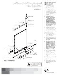 KI-62292 System 3000 Panel System Addendum AI 0111 ... - KI.com