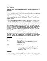 2009 UCSF Fresno Sunnyside High School Doctors Academy ...