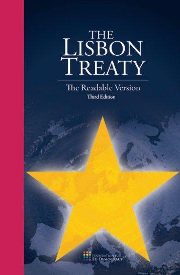 Reader-Friendly edition of the Lisbon Treaty - EU-ABC
