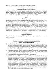 Podmínky výběrového řízení č. 1 - Praha 3